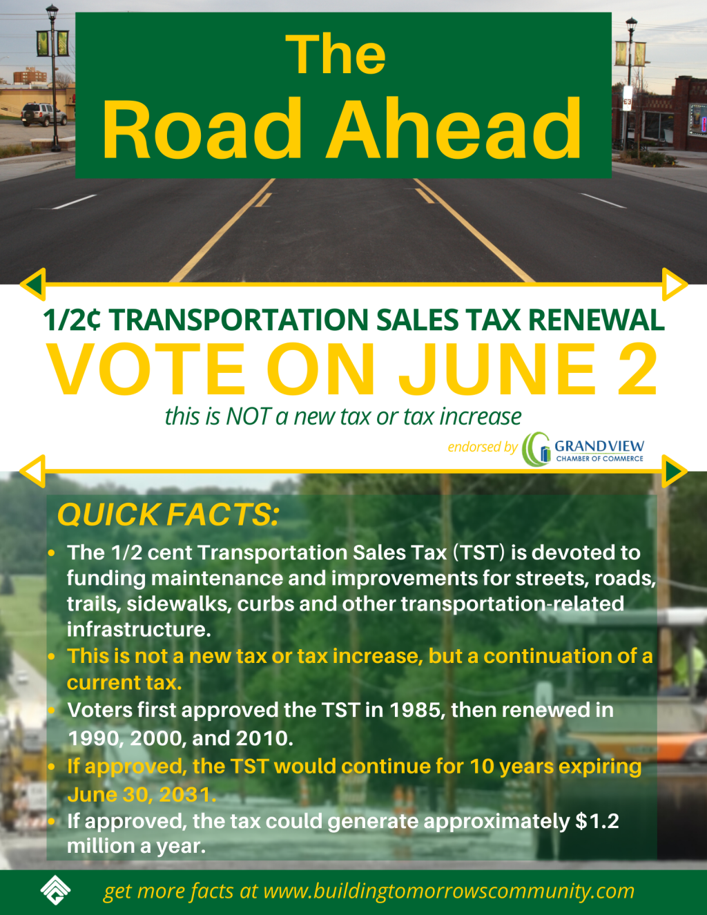 TST Renewal Flyer page one