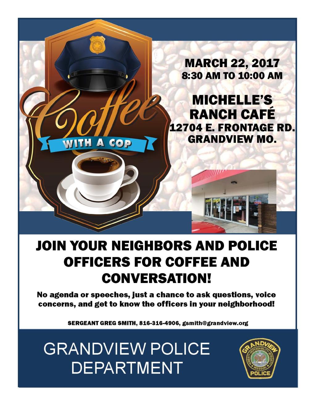 March 2017 Coffee with a Cop