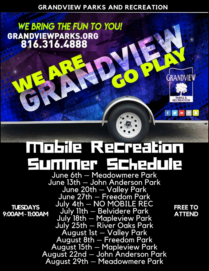 Mobile Recreation Schedule