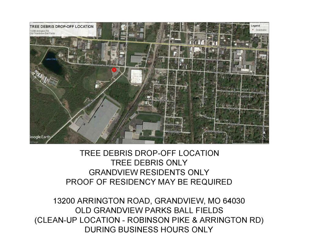 TREE DEBRIS DROP OFF MAP
