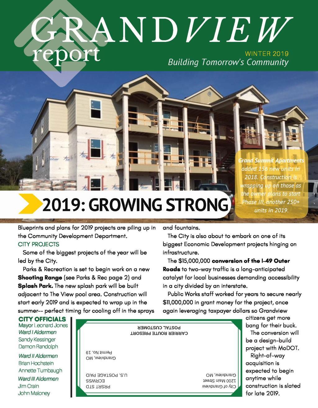 Grandview Report-Winter 2019 COVER