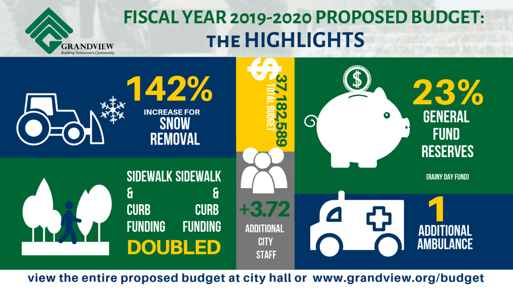 2020 PROPOSED BUDGET infographic 16x9