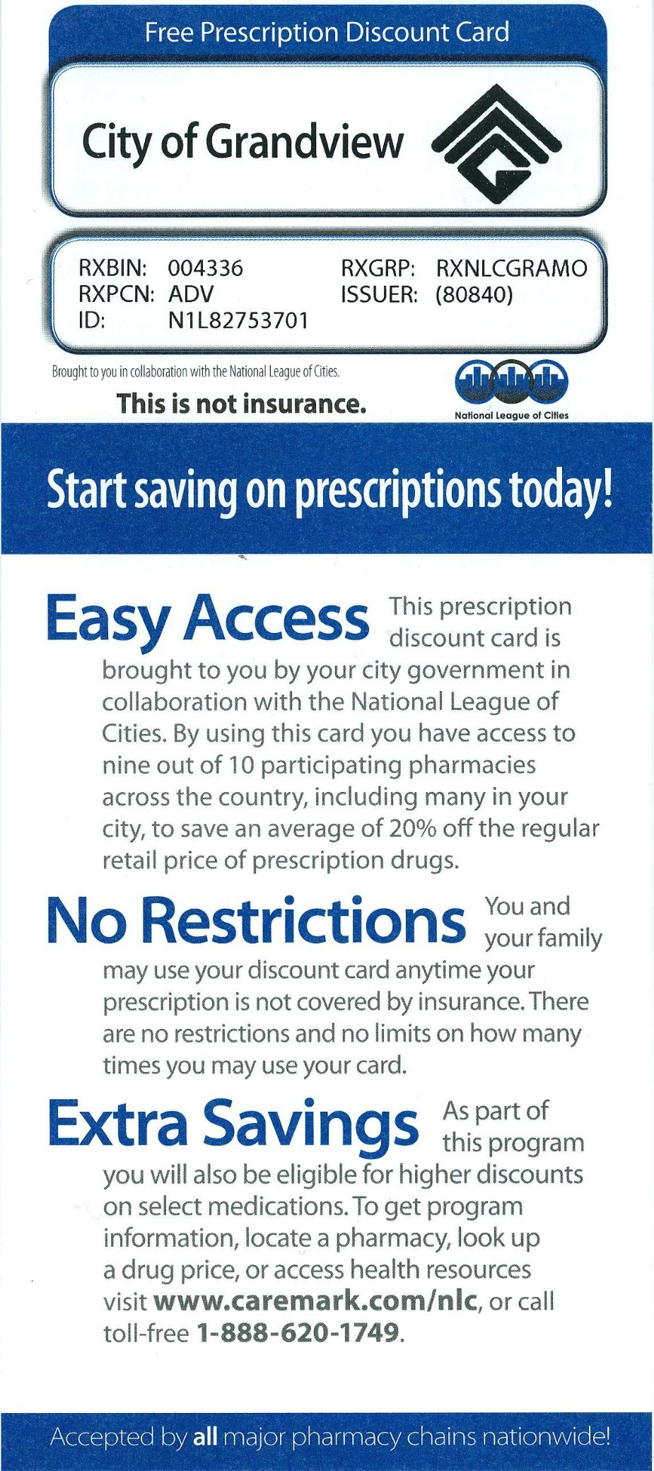 NLC PRESCRIPTION DISCOUNT CARD IS STILL AVAILABLE TO