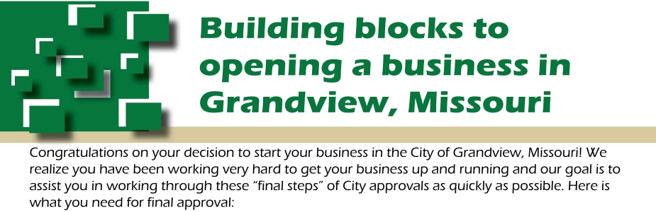 building blocks to opening a business grandview mo