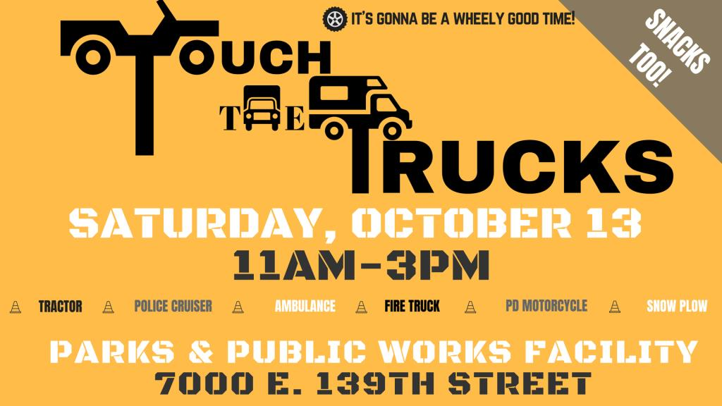 Touch the trucks Saturday October 13