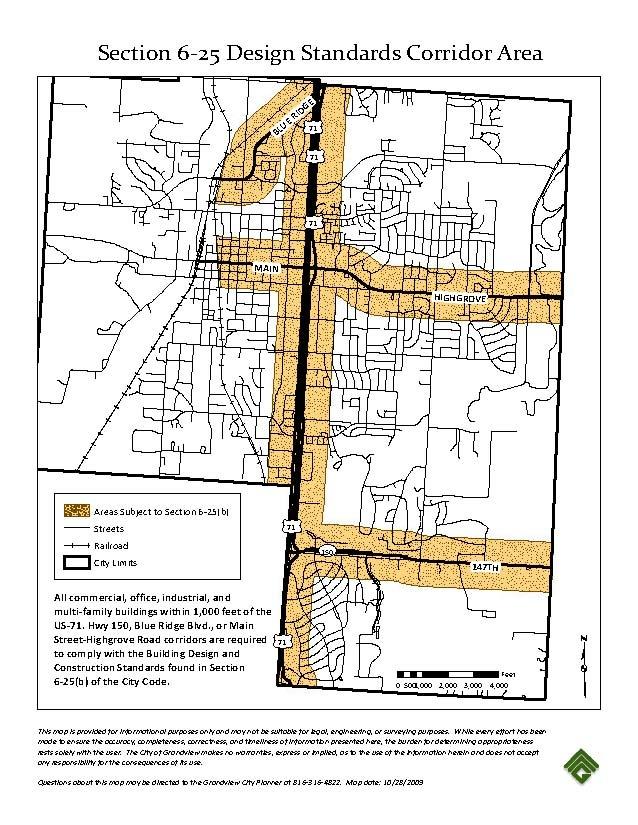 Section 6-25 Design Standards Corridor Area